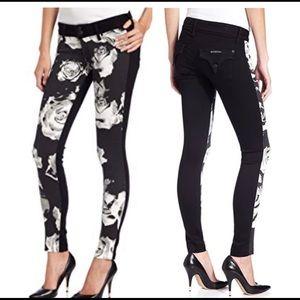 Hudson Collin Vice Versa Skinny Floral Jeans, 25